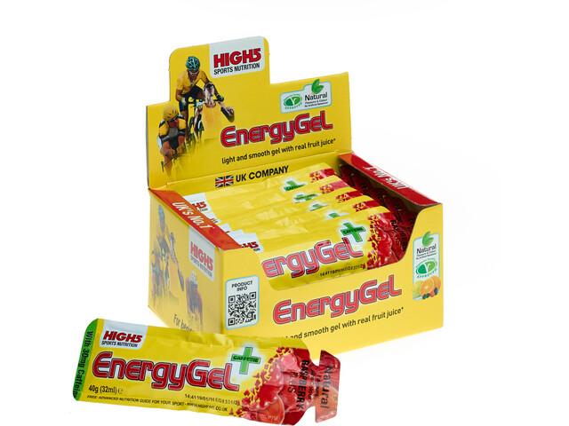 High5 EnergyGel Plus Box 20x40g, Raspberry (2019) | Energy gels